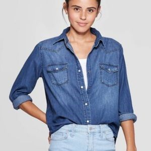 Women's Long Denim Shirt